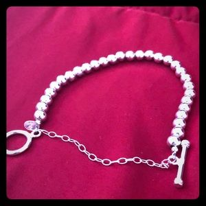 Jewelry - Sterling silver beaded bracelet